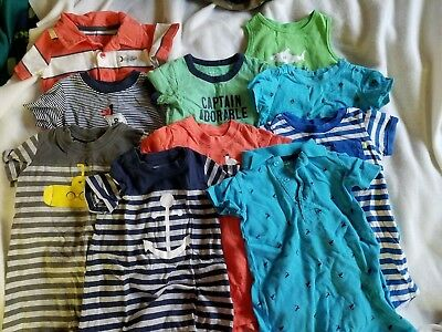 boys short outfit lot 12 months Spring Summer 12 pieces