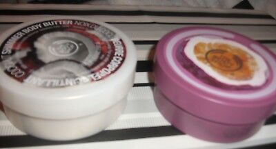 The Body Shop coconut shimmer body butter & Passion Fruit 2ooml tubs