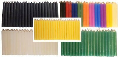 """100 Chime Spell 4"""" Candles - 20 Assorted 20 Green 20 White 20 Black & 20 Yellow"""