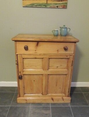 Lovely Victorian Solid Pine Cupboard/ Cabinet / Sideboard / Drawers / Storage