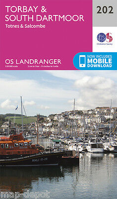 TORBAY & SOUTH DARTMOOR LANDRANGER MAP 202 - Ordnance Survey - OS  NEW 2016