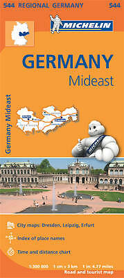 Germany Mideast Map - Michelin 544 - 2014 Edition - Dresden