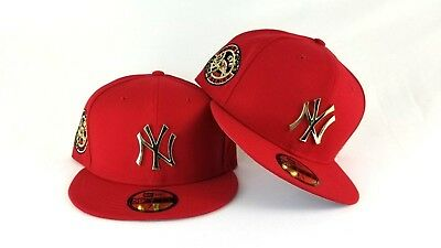 048ad8800b4 NEW ERA RED 1949 Word Series New York Yankee Gold Metal Badge fitted ...