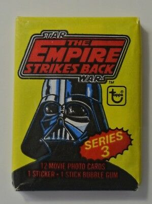 1980 Topps Star Wars EMPIRE STRIKES BACK Series 3 Wax Pack (x1)