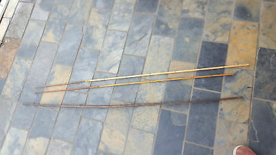Old Papua Png Pacific Island Tribal Hunting Bow & 2 Spears