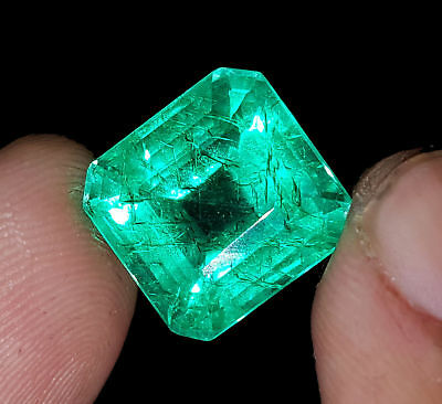 Details zu  Square Shape 8.57  Ct Certified Emerald Beryl