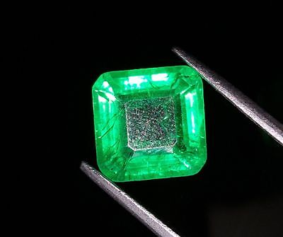Elegant 5.36 Ct Certified Square Shape Emerald Beryl