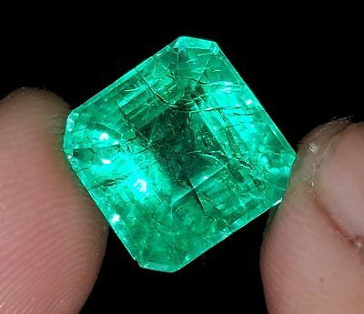 Elegant 8.42 Ct Certified Square Shape Emerald Beryl