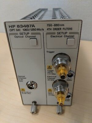 HP 83487A OPTICAL ELECTRICAL PLUG-IN, Opt 041