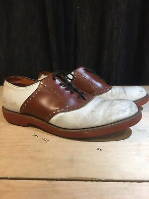 Vintage 1950s Saddle Shoes USA Brown Two Tone WALKOVER Oxford  11