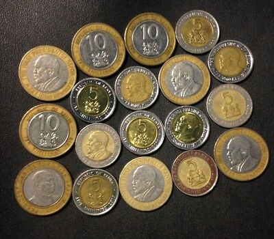 Old KENYA Coin Lot - 18 Great Scarce Coins - Lot #F20