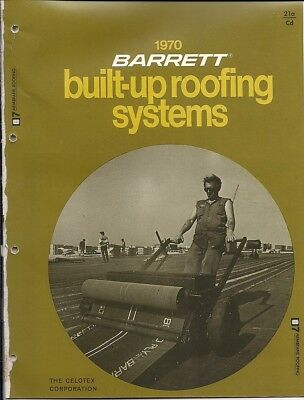 1970 The CELOTEX Corp BARRETT BUILT-UP ROOFING Systems ASBESTOS Vintage Catalog