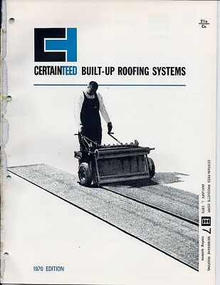 1970 CERTAINTEED Corp BUILT-UP ROOFING Systems ASBESTOS Series Vintage Catalog