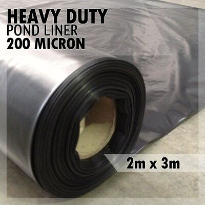 2m x 3m Wide Heavy Duty Pond Liner 200mu Reinforced Landscaping for Ponds x 3m