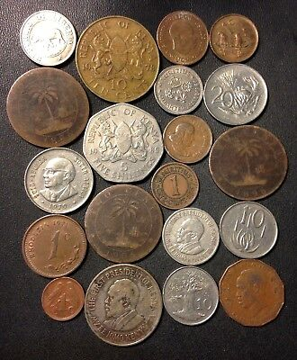 Old Africa Coin Lot - 1896-Present - 20 Great Coins - Lot #F20