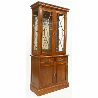 Solid Mahogany Wood 2 doors Bookcase / Display Cabinet Antique