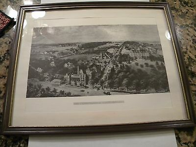 """Framed Picture Of The Pennsylvania State College In A 11"""" X 14"""" Frame"""