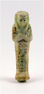 Egypt Third Intermediate Period faience shabti of Anchef-en-Amun
