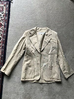 yves saint laurent neutral linen blazer