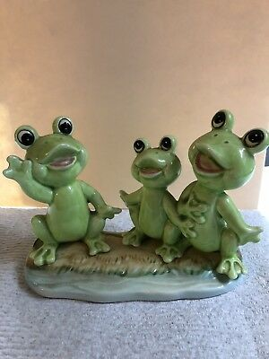 Vintage Norcrest Frogs Trio - USED