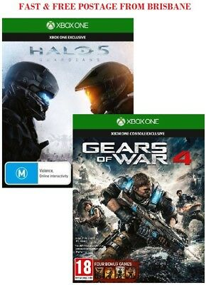 Halo 5 & Gears of War 4 Xbox One Game Bundle Brand New In Stock From Brisbane