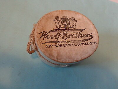 Woolf Brothers Knox Agency Miniature Hat Box and Hat Kansas City MO