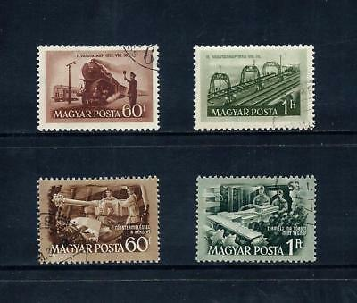 HUNGARY _ 1952 'RAILWAY & MINERS DAY' 2 SETS (4) _ used ____(519)