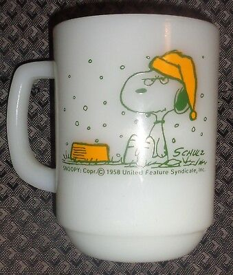 Fire-King ~Snoopy ~I Hate It When It Snows On My French Toast ~Peanuts ~Cup Mug