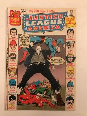 Old DC Comic Justice League of America #92 (Sep 1971, DC)