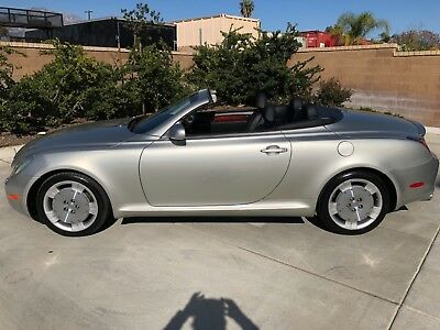 2003 Lexus SC SILVER BLACK BEAUTY C430 SOUTHERN CALIFORNIA SPARKLING TOPLESS BEAUTY! MILD CLIMATE GARAGED LADY!