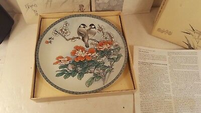 IMPERIAL JINGDEZHEN PORCELAIN COLLECTOR'S PLATE Love Birds The Gift of Purity***