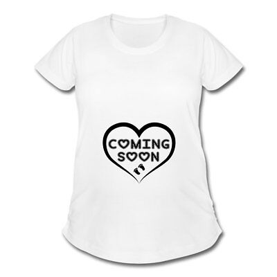 Pregnancy Baby Coming Soon Foot Prints Women's Maternity T-Shirt by Spreadshirt™