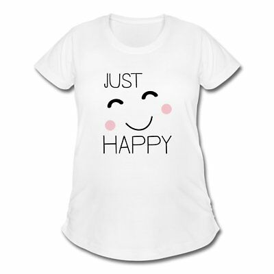 Just Happy Cute Smiling Face Women's Maternity T-Shirt by Spreadshirt™