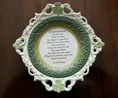 """Grasslands Road  IRISH CELTIC PLATE 10 1/2"""" May The Road Rise To Meet You"""