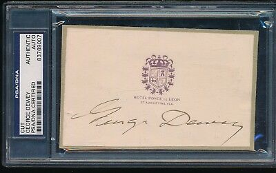 George Dewey PSA/DNA CUt FIRST ADMIRAL OF NAVY DECEASED 1917 AUTO AUTOGRAPH USN