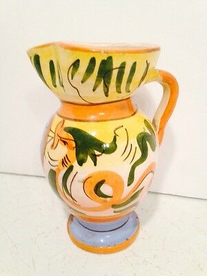 Art Pottery Vase Handcrafted Hand Painted Made In Italy Vintage