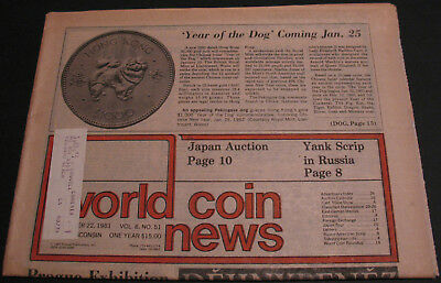 Vintage - World Coin News Vol. 8 #51 Yank Scrip In Russia, German Medals Scarce