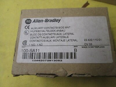 Allen-Bradley Auxiliary Contact Side Mount, 100-Sa11, Nib!
