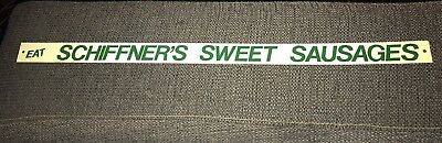 Vintage Mca Sign Co Repro Metal Sign Schiffners Sweet Sausages Shelf Sign