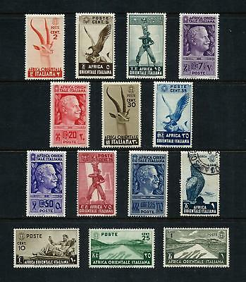ITALIAN EAST AFRICA _ 1938 'PICTORIAL' 14 _ mh-used ____(519)