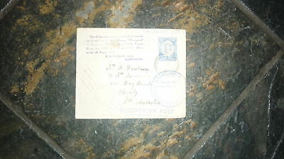 1938 Tonga Tin Can Mail Cover, Blikken Bus Post