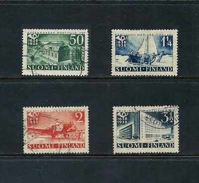 FINLAND _ 1938 'POSTAL TERCENTENARY' SET of 4 _ mh-used ____(519)