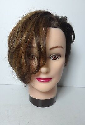 Cosmetology Beauty School Rose #4114 Mannequin Head with Hair