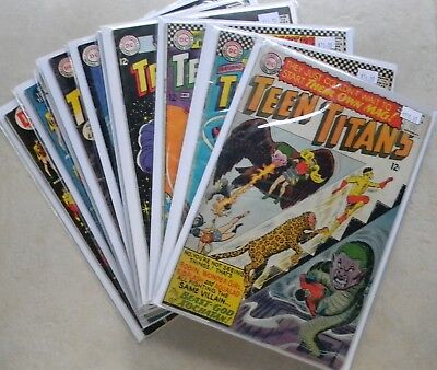 Teen Titans #1 5 6 12-14, 19-41 (1966-up, DC) Avg. 5.0 VG/FN KEY 1st Solo Series
