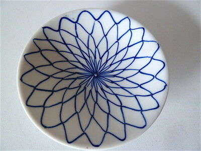 Assiette coupe ancienne PORCELAINE CHINE blanc bleu Chinese Chinoise China Asie