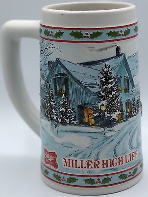 Miller High Life Limited Edition Holiday Beer Stein EXCELLENT Condition BRAZIL