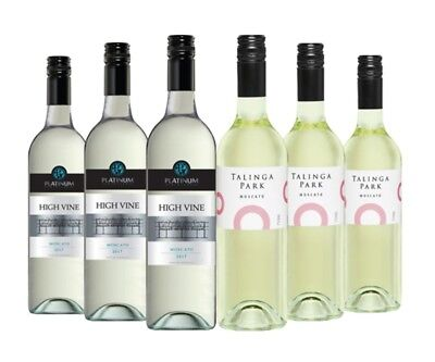 $45 Delivered Moscato White Wine Mixed  6x750ml RRP$119 Free Shipping