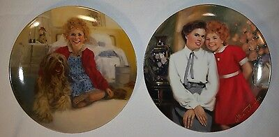 Vintage 1980's-Knowles-Annie Collector's Plates  Lot of 2  Very good condition