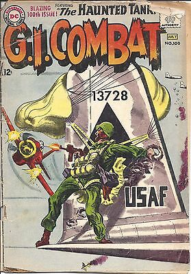 """G.I. Combat #100 (JUNE-JULY 1963, DC)-""""BLAZING 100TH ISSUE - THE HAUNTED TANK"""""""