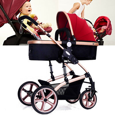 High View Pram Travel System 3 in 1 Combi Stroller Buggy Baby Child Pushchair